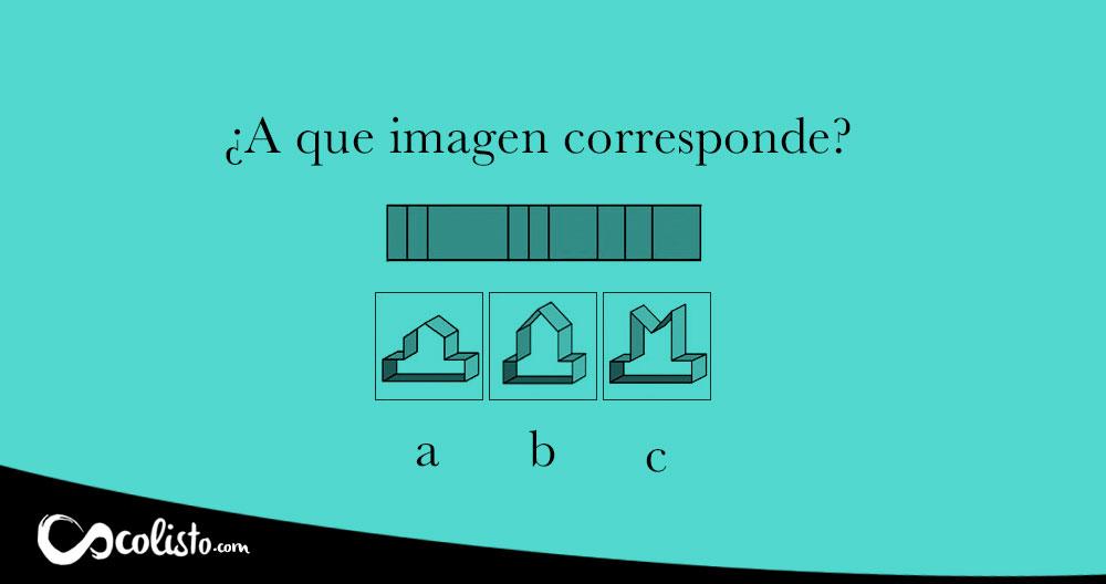 Acertijo 3d. ¿A qué imagen corresponde?