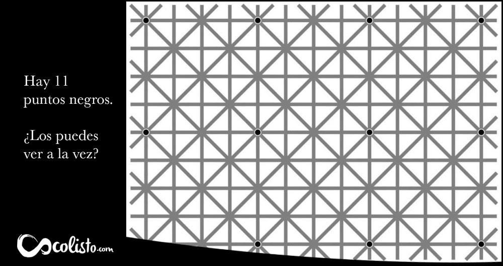 Ilusión optica imposible, seguro que no podrás ver los doce puntos a la vez.