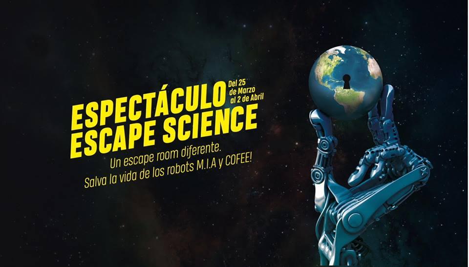 Escape Science. Un espectáculo y escape room diferente.