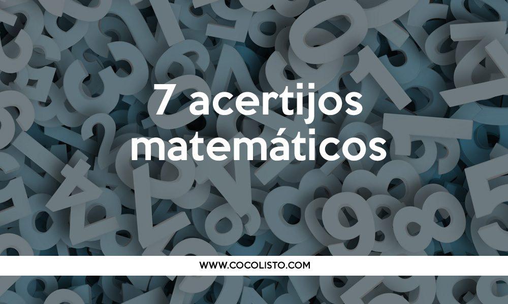 Los 8 acertijos matemáticos. ¿Tienes el coco listo?