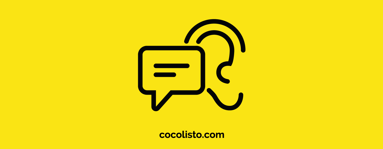 Icono de texto y oído