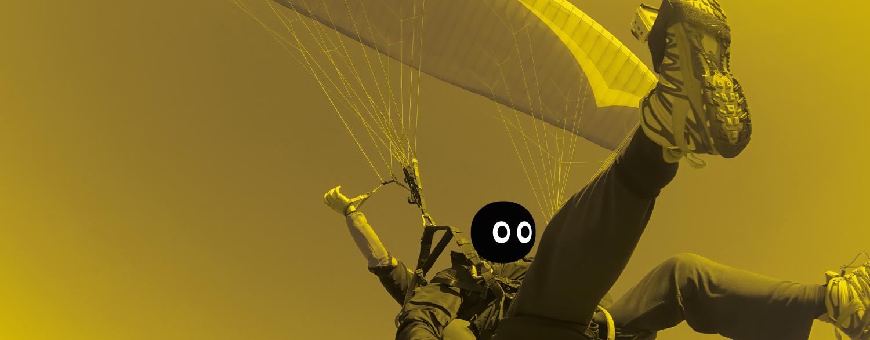 Paracaidista. Concepto de onboarding en una nueva empresa
