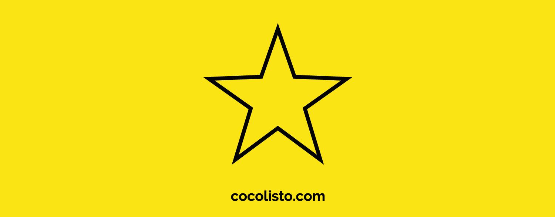 Icono de una estrella con el descriptor de cocolisto